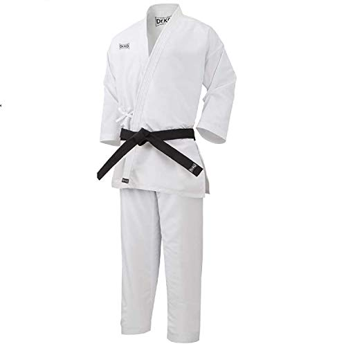 Dr. KO KARATEGI: Kimono Tradicional de Karate. Unisex para niños y Adultos (Blanco, 120)