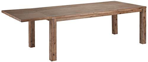 Ibbe Design Ansteckplatte Tischplatte für Alaska Ausziehbar Esstisch Natur Massiv Braun Lackiert Akazie Holz Esszimmer Tisch, L50xB90xH2,5 cm