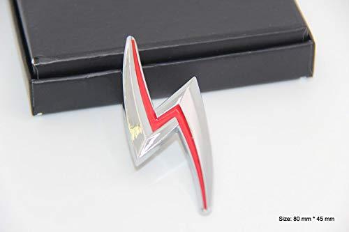 B319 Blitz Chrom Emblem Badge auto aufkleber 3D mobil Abzeichen car Sticker Plakette