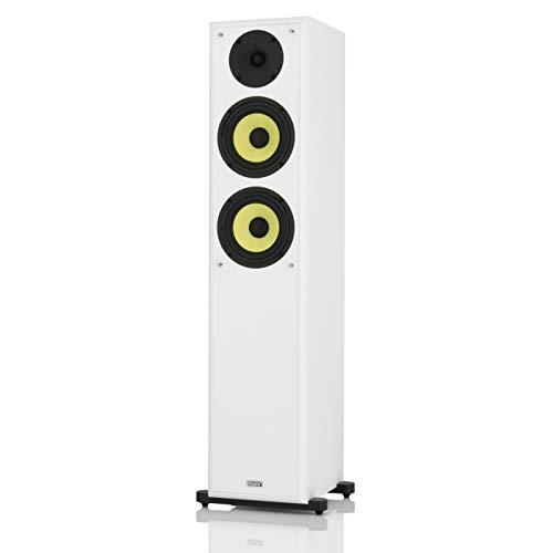mohr 1 Stück SL20, Standlautsprecher, Lautsprecherboxen, wavecor Hochtöner, Tieftonmembran aus Polyamid, HiFi Standboxen, Weiss