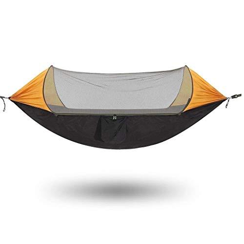 Zmsdt Moustique hamac avec moustiquaire Tente de Camping Gratuit pêche Camping Plein air hamac (Couleur : Orange)