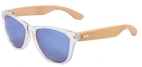 SHINU Madera UV400 Gafas de Sol de Destello Colorido de la Lente del Espejo de Madera Gafas-Z6100