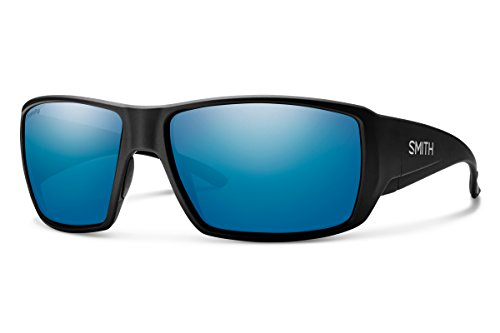 Smith Optics Guides Choice Sunglasses, Matte Black/ChromaPop Glass Polarized Blue Mirror