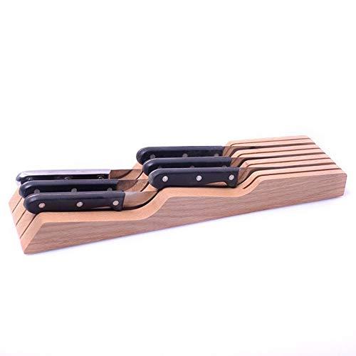 Xue-Shelf Bambus-Messerblock in der Schublade für 10 Messer (Nicht im Lieferumfang enthalten) - Der Messerspeicher-Organizer bewahrt die Messer ohne zu Zeigen auf