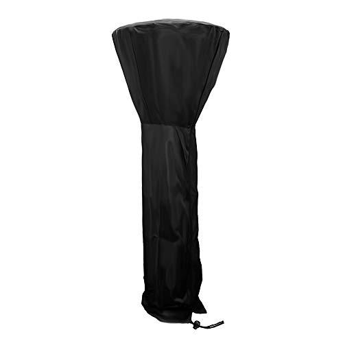 Uranbee Heizpilz Abdeckung Terrassenheizer Schutzhülle mit Reißverschluss 210D Atmungsaktive Wetterschutzhülle für Terrassenstrahler 226x85x48 cm Schwarz