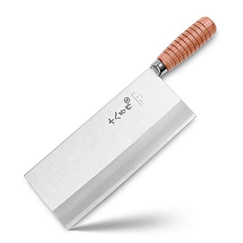 9-inch Kitchen Knife Professional Chef Knife Stainless Steel Vegetable Knife Safe Non-stick Coating Blade with Anti-slip Wooden Handle