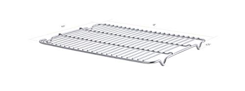 """SunnyPoint 100% Stainless Steel Wire Cooling Rack for Baking, Cool Cookies, Cake, Breads - Over Cooking, Roasting, Grilling - Heavy Duty Commercial Quality. (1, 8.5"""" X 12"""")"""