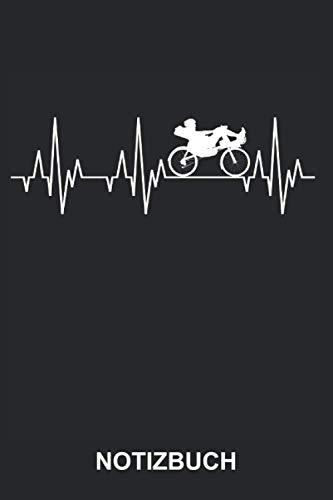 Notizbuch: Liegerad Liegefahrrad Fahrrad Fahren Radsport Fahrradsport Fahrradfahrer Fahrradfahren Radfahrer Radfahren Sport Herzschlag | Lustiges ... | ca. A5 mit Linien | 120 Seiten liniert