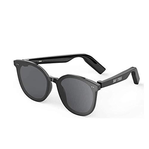 Adesign Inteligente Lentes inalámbricos Bluetooth Gafas de Sol Abierto del oído música y Llamadas de Manos Libres, Hombres y WomenPolarized Lentes for Deportes al Aire Libre (Color : A)