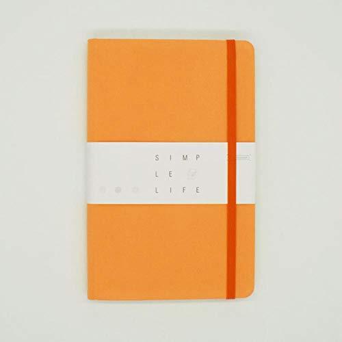 Bullet Journal Notitieboek voor planningsdoel Gestippeld A5 stoffen hoes Bullet Journal 96 vellen 5 kleuren kantoor & schoolbenodigdheden planner, oranje, A5