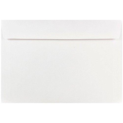 JAM PAPER 7 x 10 Booklet Commercial Envelopes - White - 25/Pack