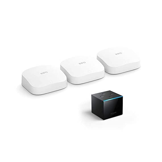 Introducing Amazon eero Pro 6 tri-band mesh Wi-Fi 6 system with built-in Zigbee smart home hub (3-pack) 1 Introducing the fastest eero ever - eero Pro 6 covers up to 2,000 sq. ft. with wifi speeds up to a gigabit. Say goodbye to dead spots and buffering - Our TrueMesh technology intelligently routes traffic to reduce drop-offs so you can confidently stream 4K video, game, and video conference. More wifi for more devices - Wi-Fi 6 delivers faster wifi with support for 75+ devices simultaneously.
