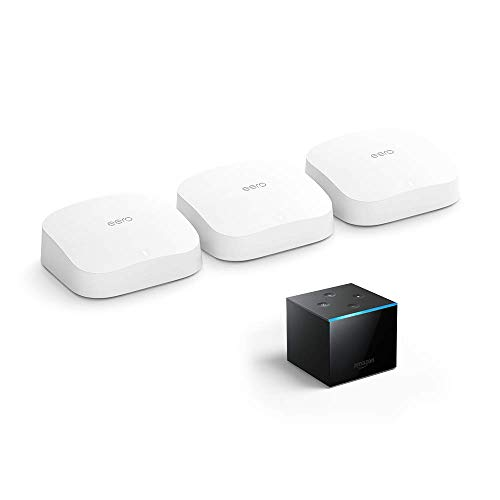 Introducing eero Pro 6 mesh wifi system bundle with Fire TV Cube