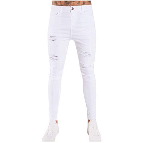 Pantalones Vaqueros para Hombre, Pantalones Casuales Moda Jeans Rotos Trend Largo Pantalones Pants Skinny Pantalon Fitness Jeans Slim Fit Largos Pantalones Ropa de Hombre