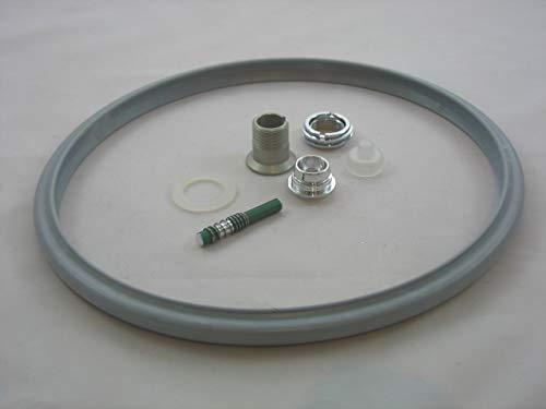 Reparaturset für Schnellkochtopf Silit 22cm Sicomatic S + SN + SL Set1 8-TLG. Dichtungsring, Druckanzeiger, Verschraubung, Ventil etc.