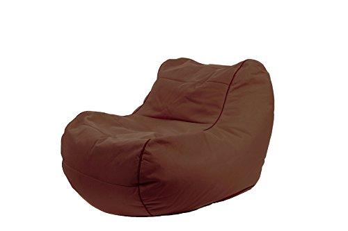Jumbo Bag 29152-70 Fauteuil Design Chilly Bean Polyester Chocolat 105 x 75 x 70 cm