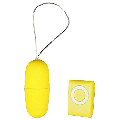 Ruimanda Control Remoto Inalámbrico Masajeador Juguete Adulto Regalo Camiseta Sexo Huevo Estimulación Comodidad(Yellow)