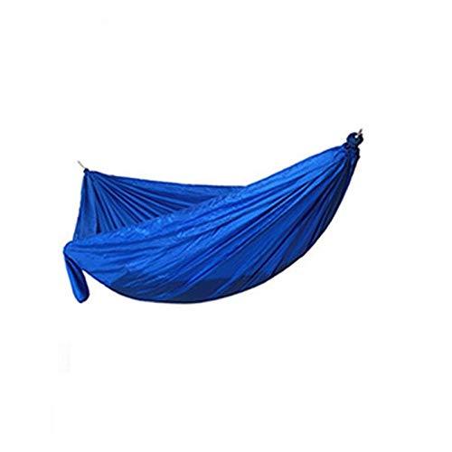 Camping/Jardín Hamaca con mosquitero Muebles para Exteriores 1-2 Persona Portátil Colgante Bed Strongación Paracaídas Tela Sueño Swing-Blue No Malla (Color : Blue no Mesh)