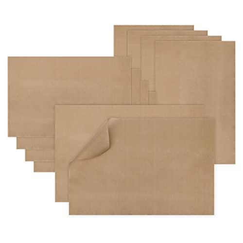 Dauerbackfolie(10er Set je 40 x 60 cm),Das Premium Backpapier,extrem langlebig und extra Groß zum Grillen und Backen antihaftbeschichtet und spülmaschinenfest