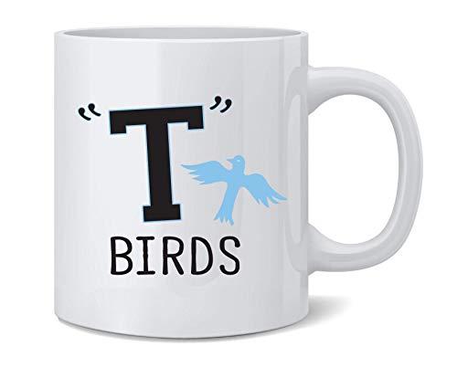 N\A T Birds Gang Logo Disfraz Retro 50s 60s Taza de caf de cermica Taza de t Regalo Divertido y novedoso 11 oz