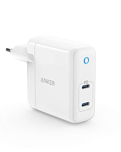 Anker PowerPort Atom PD 2 GaN Tech kompaktes Typ C Wandladegerat 60W 2 Port USB C Ladegerat mit Power Delivery fur MacBook Pro Air iPad Pro iPhone XR XS Max X 8 Pixel Galaxy und mehr