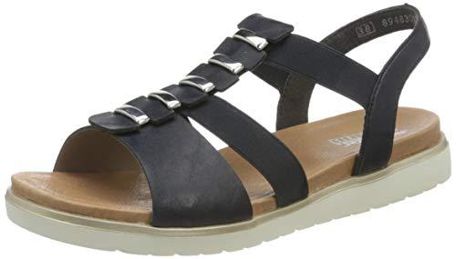 Rieker Damen Frühjahr/Sommer V5051 T-Spangen Sandalen, Blau (Pazifik 14), 38 EU