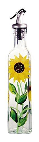 Grant Howard Glass Sunflower Oil & Vinegar Bottle