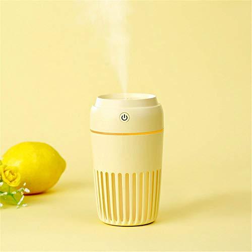 DZFDZ Bunte Led Nachtlicht Ultraschall Luftbefeuchter USB Luftreiniger 300 Ml Mini Aroma Diffusor Nebelhersteller Fogger Für Home Office Auto Gelb