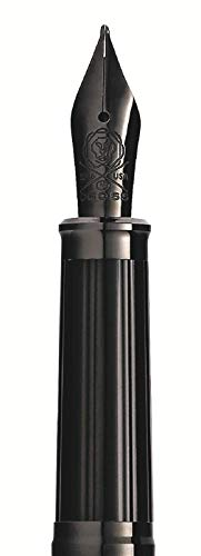 Cross 86329S Plumín Century II Punto Medio para Pluma Estilográfica PVD, Acero/Negro