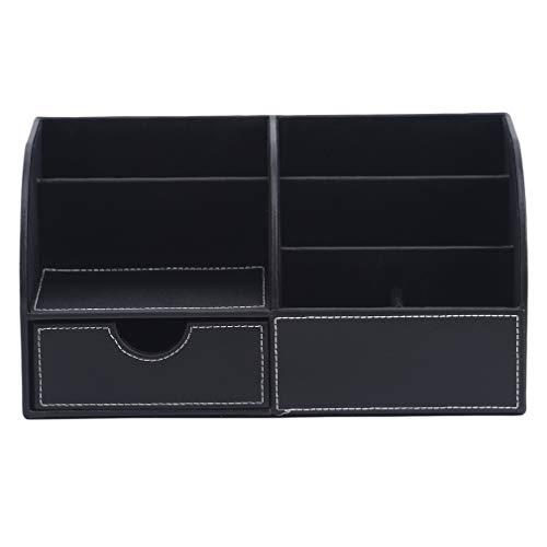 #N/A Qihang Desktop-Visitenkartenhalter, Schubladenfernbedienungshalter Stand Tidy Desk Organizer Büromaterial,schwarz