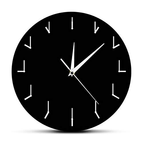 hysxm Une Horloge Murale Simple Et Totalement Redondante Horloge Murale Décorative pour Salon Horloge Redondante De Redondance Art Abstrait, Noir-12inch