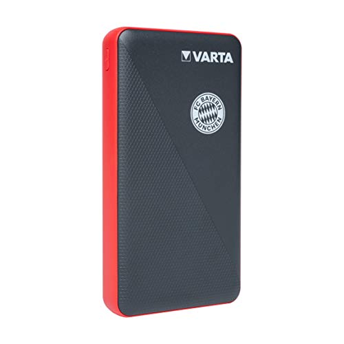 VARTA FC Bayern München Power Bank 15000mAh inkl. Ladekabel, 4 Ausgänge (1x Micro USB, 2x USB A, 1x USB Typ C), Lademöglichkeit immer und überall