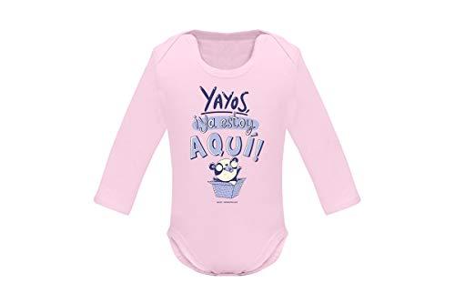 Missborderlike - Langarm-Body - Yayos Estoy aqu (Rosa), body001_lar_rosa_12-18, Pink, body001_lar_rosa_12-18 12-18 meses