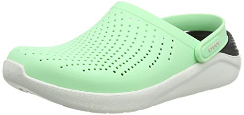 Crocs Unisex-Adult LiteRide Clog | Athletic Slip On Comfort Shoes, Neo Mint/Almost White, 12 US Women / 10 US Men