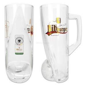 Bitburger Glas Bierglas mit Henkel 0,4l geeicht - Fussball DFB Nationalmannschaft Sonderedition