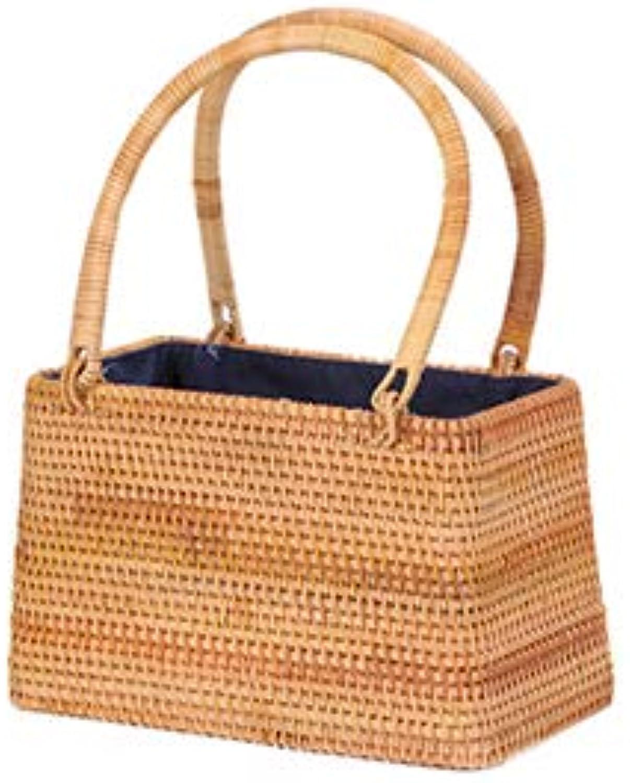 Sommer Bali Handgemachte Strohhohl Top-Griff Handtasche Bhmischen Rattan Strandtasche Vintage Gewebte Frauen Tote Bolsa Neue
