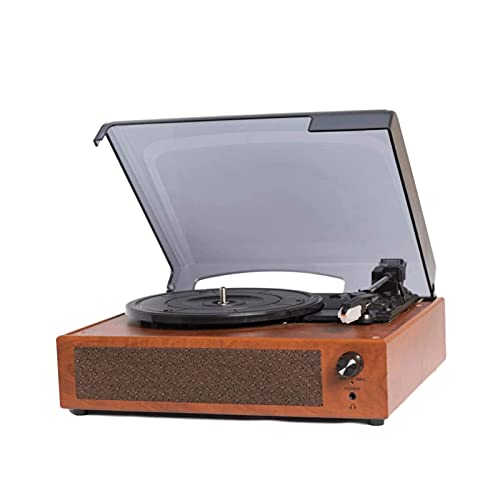 NCRD Turnato Giratorio de la Unidad de Correa con Altavoces incorporados, Tocadiscos de Vinilo USB de 3 velocidades 33/45/78 RPM con Altavoz, Reproductor de grabación Estereo de Vinilo de 3,5 mm para