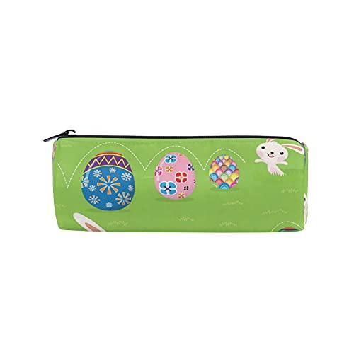 JNlover - Estuche redondo para lápices, diseño de conejo de Pascua, para adolescentes, niños, oficina