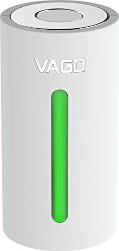 VAGO Smarter, mobiler Kompressor inkl. Vacuum Beutel für Kleidung im Reisegepäck/Reisebeutel [50% Platz sparen I Schmutzwäsche I Kleines Design I Abschaltautomatik] weiß - TVD1-WHITE