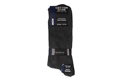 Cotton Club Socken in Übergrößen Grau 4097-2 große Herrenschuhe, Größe:47-50