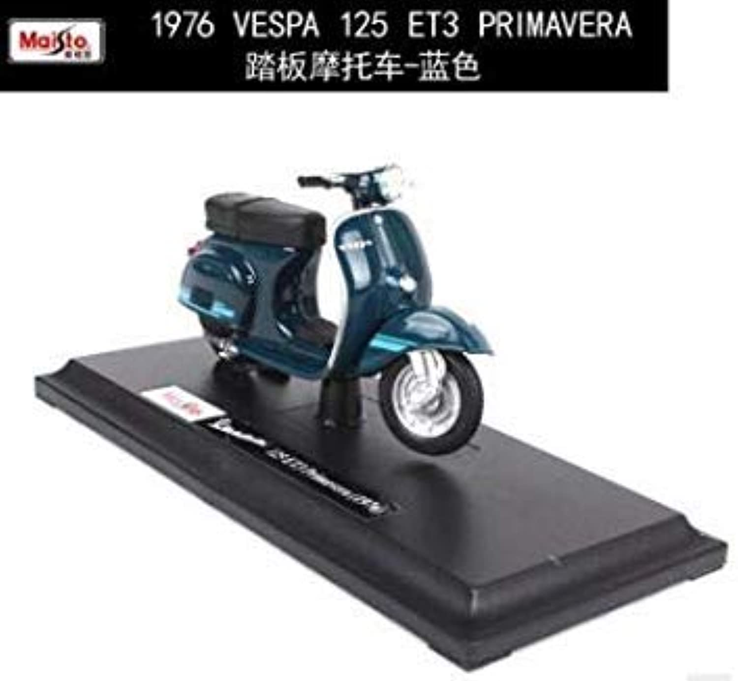 Cheap Kids Toys 1 18 Scale 1969VESPA 50 Special Motorcylce Model Vehicles Model Diecast Moto Kids Toys Collection Gifts 1976 bluee