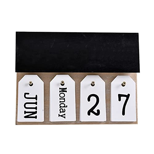 LZL Calendario de Madera Desktop Perpetual Flip Calendario 2021 Perpetual-Standing Academic Desk Calendar Pad 11x8.2in (Color : Desk Calendar A)