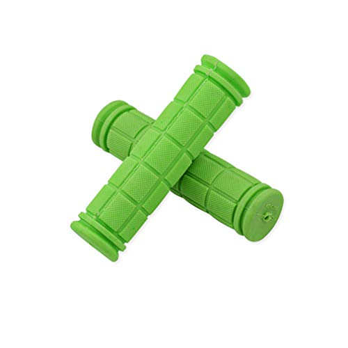 YLYBDDD Rubber Bike Handlebar Grips Cover BMX MTB Mountain Bicycle Handles Anti-Skid Bicycles Bar Grips Fixed Gear Bicycle Parts Green