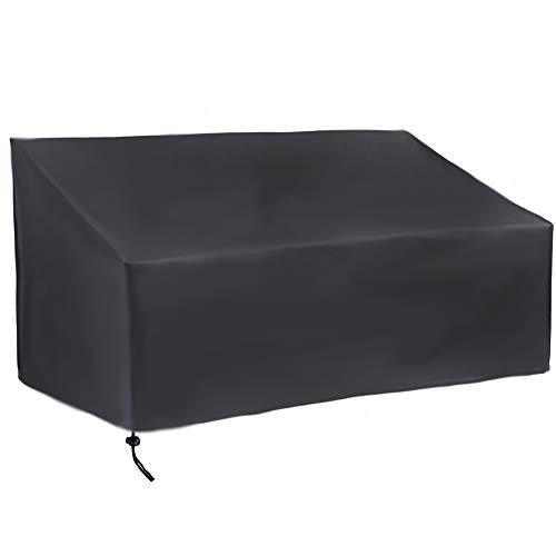 para Banco De Jardín Impermeable, 420D Funda para Banco Exterior de 2/3/4 plazas, Protectora para Muebles de Jardín, Resistente al Desgarro contra el Viento/UV (163x66x63/89cm,420D)