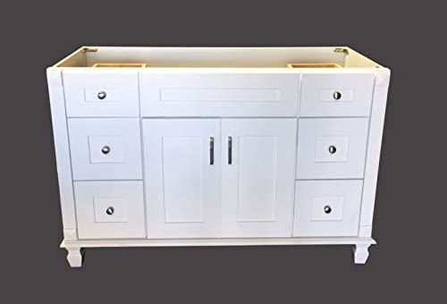 White Shaker solid wood Single Bathroom Vanity Base Cabinet 48' W x 21'D x 32' H