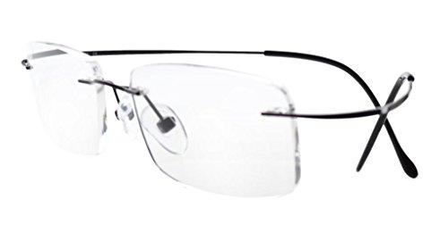 Eyekepper Glasant Titanio occhiali da lettura Uomo Donna nero +1.25