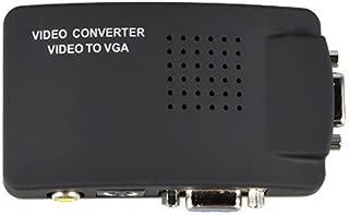 SLLEA RCA Composite AV S-Video to VGA Converter Box for DVD DVR VCR Monitor Cheap