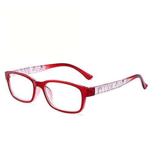 LVLUOKJ Gafas De Lectura Ligero Cómodo Lectores Gafas Transparentes for Juegos Hombres Mujeres (Color : Red, Size : +3.00)