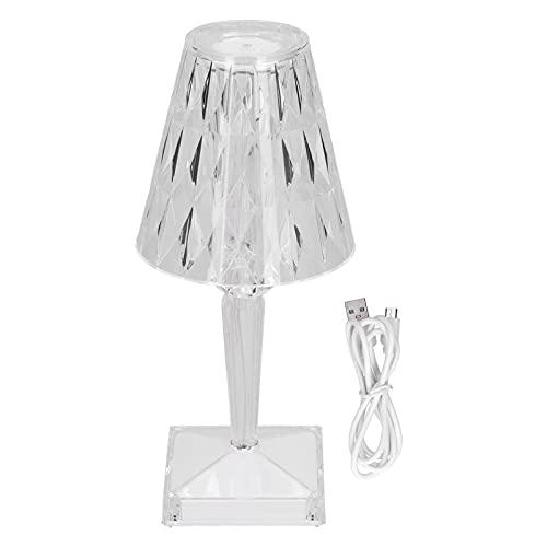 MAVIS LAVEN Lámpara de Mesa Colorida Regulable con luz de Cristal LED Lámpara de Mesa de 7 Colores Ajustable para el Cuidado de los Ojos para decoración del hogar del Dormitorio