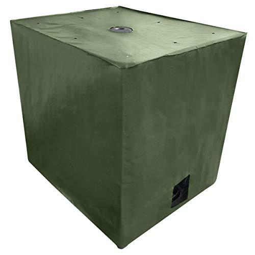 REKUBIK IBC Cover UV-Schutz Gewebe mit Klettverschluss in Grün Tankgröße 1000l IBC (120x100x116cm)